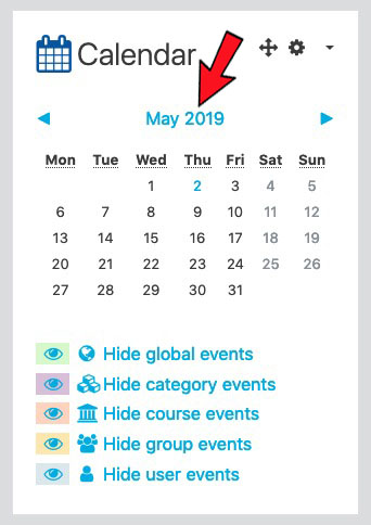 Adding Events using the Calendar Block - Moodle Answers